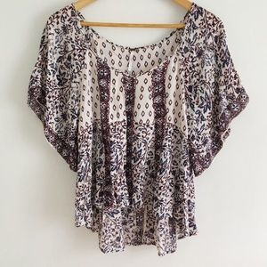 Free People Printed Blouse